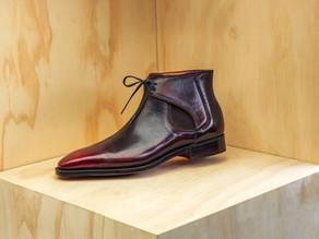 Norman Vilalta Decon Chelsea Boots in Burgundy
