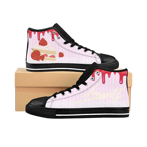 """""""Strawberry Girl"""" Women's High-top Sneakers"""