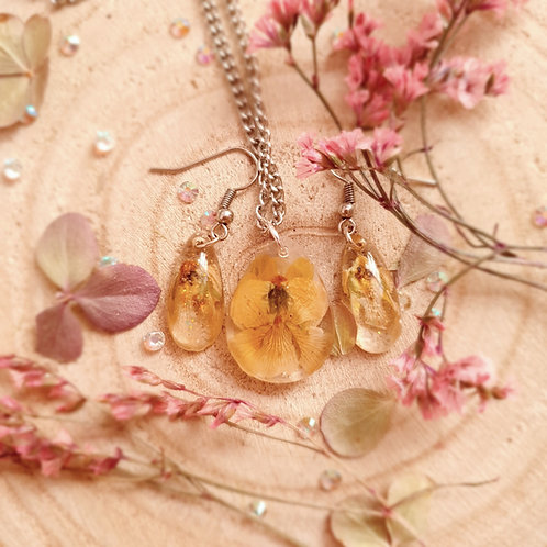 Pressed Violet Jewelry Set