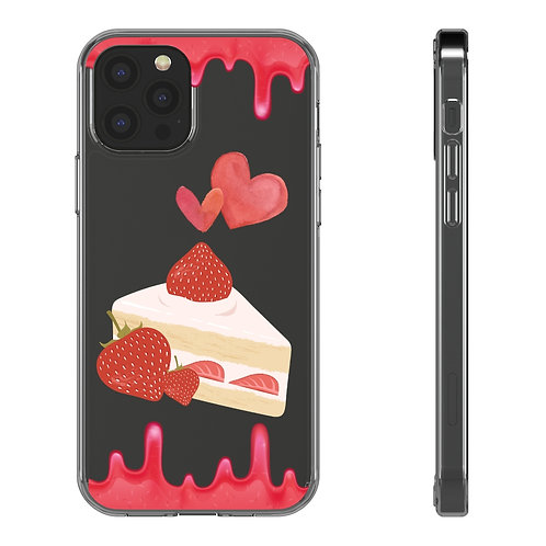 """""""Strawberry"""" Clear Iphone Case"""