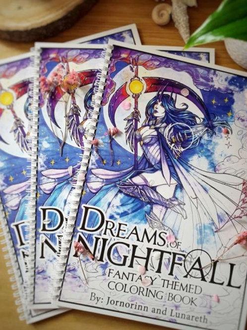Dreams of Nightfall - Adult Coloring Book (16+)