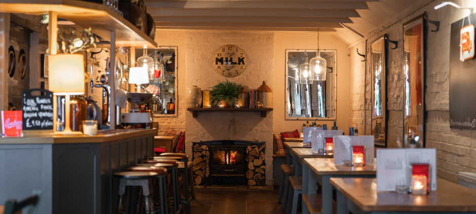 Wood Fired bar and restaurant at The Richmond Arms in West Ashling