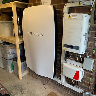 Tesla Powerwall installed in Havant, Hampshire, UK