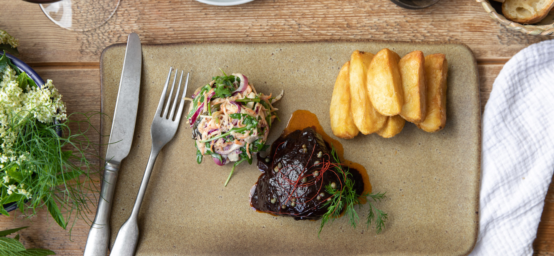 Beef Brisket and chips