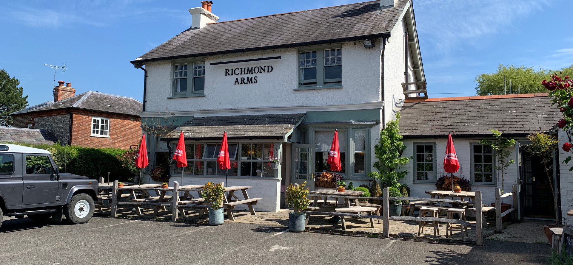 The front of The Richmond Arms in West Ashling