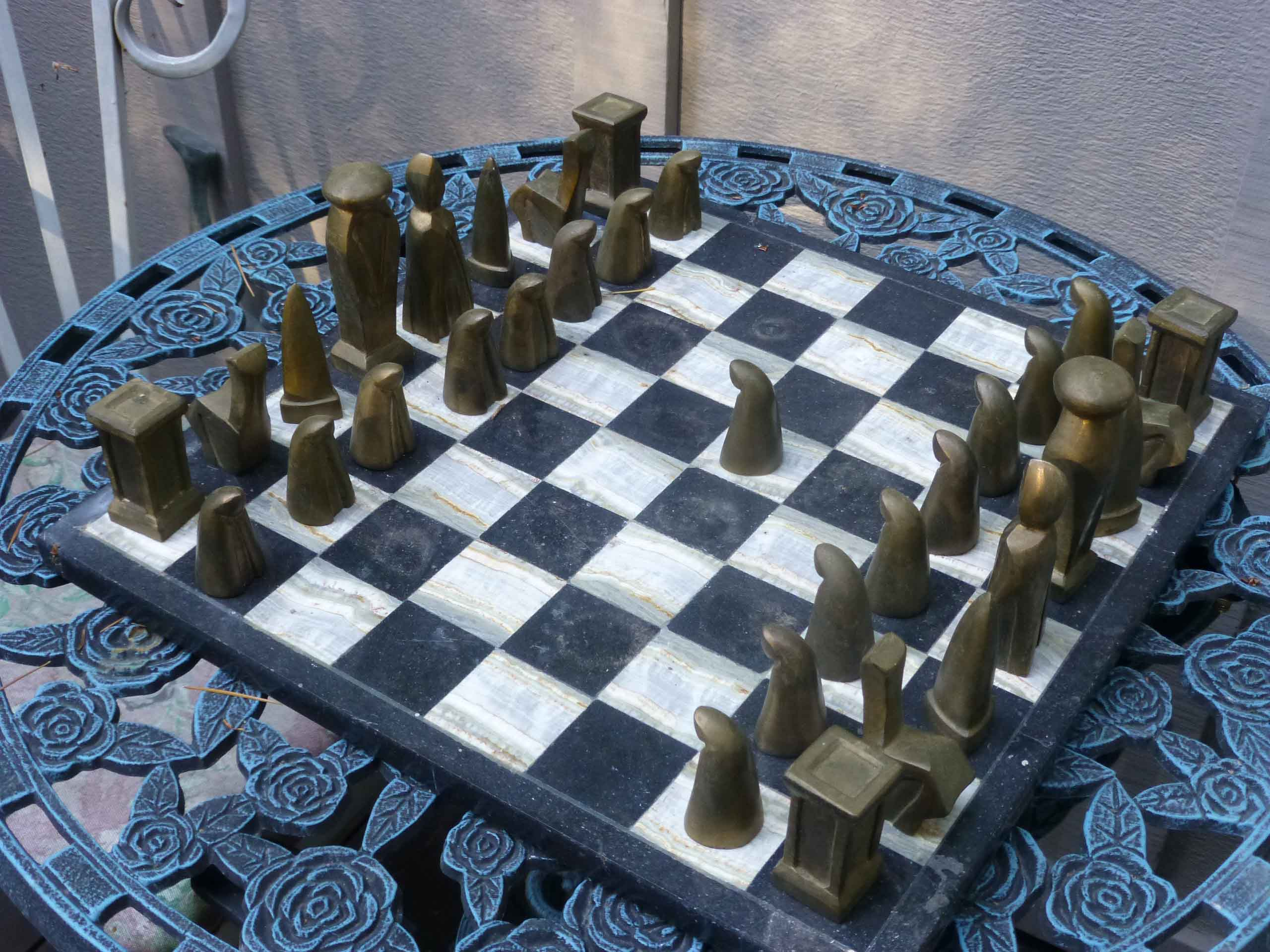 Chess set-Bronze