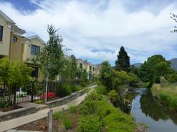 Creek-side condominiums