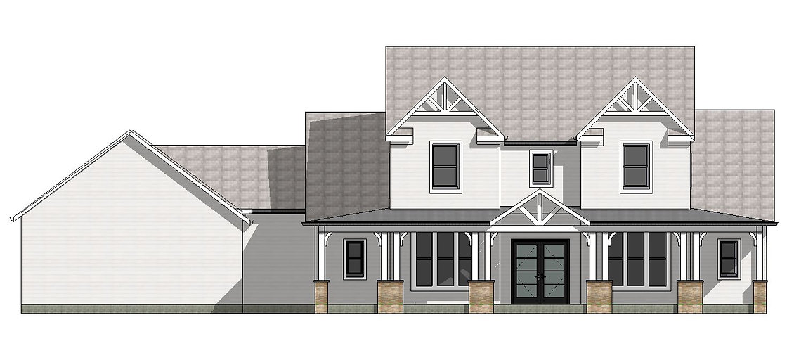 internship -- bass house front elevation