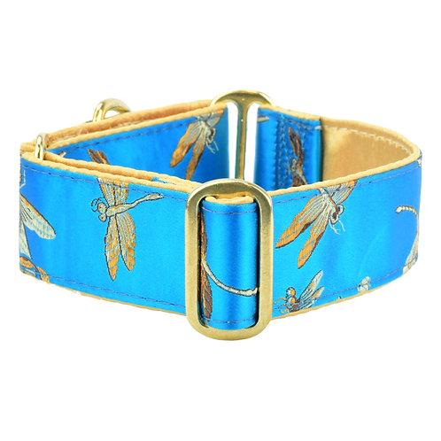 Dragonflies– Silk Brocade Dog Collar