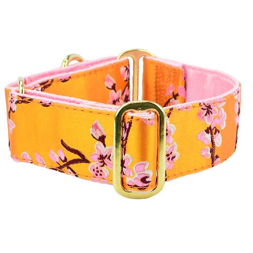 Cherry Blossoms – Silk Brocade Dog Collar