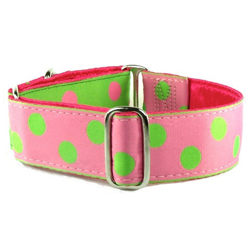 Just Dottie Kiwi/Bubblegum – Limited Dog Collar