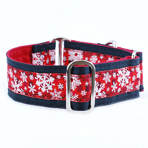 Buffalo Plaid Snowflake – Exclusive Dog Collar