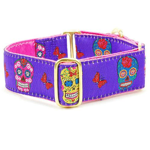 Sugar Skull Purple – Limited Dog Collar