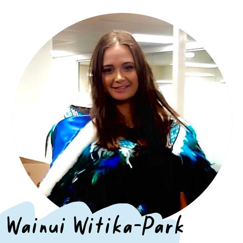 Wainui (she/her) is a 25 year old Māori woman with low vision, working as a Software Developer. She is passionate about advocating for disabilities and accessibility and hopes to use her skills in the tech industry to create a more accessible world.  [Artist Profile picture of Wainui Witika-Park. She has long brown hair and is wearing a traditional Māori cloak made of blue satin and feathers.]