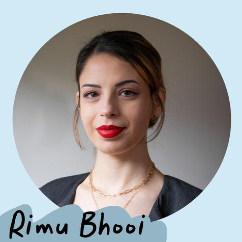 Rimu Bhooi (they/them) is a queer non-binary Indian person based in Pōneke. Rimu lives with Endometriosis and the many comorbidities that come with the condition. They study part time, as well as working as a writer, and as an advocate for marginalised communities.   [Artist profile picture of Rimu Bhooi. They are wearing red lipstick and have brown hair tied up.]