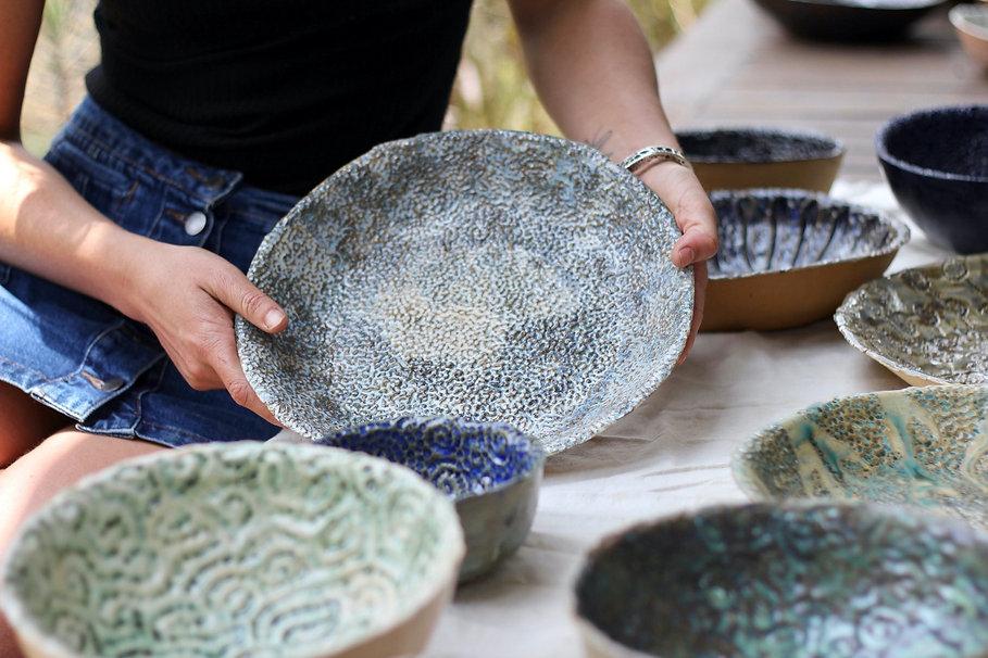 Lana Trzebinski Ceramics Blue Bowl - Nairobi, Kenya