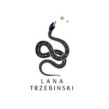 Lana Trzebinski Logo black and gold font