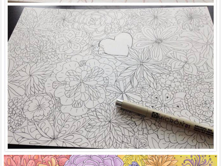 Feast of flowers – From sketch to finished piece