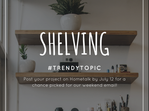 This week's #trendytopic! Shelving
