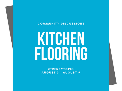 This week's #trendytopic! Kitchen Flooring