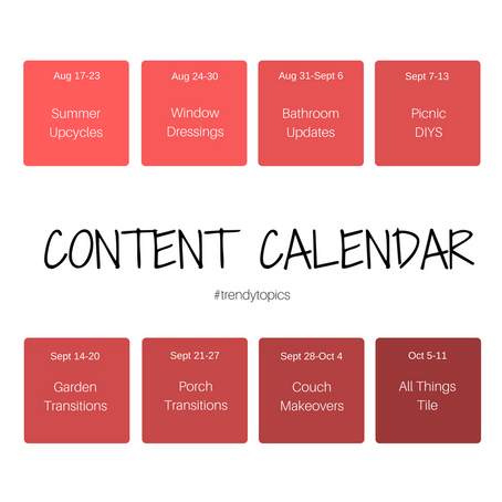 August-October Content Calendar