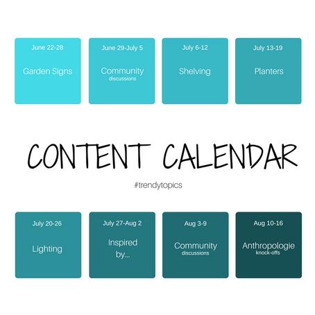 June-August Content Calendar