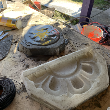 Moldings for the stupa design