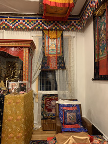 Rinpoche's seat in Temple