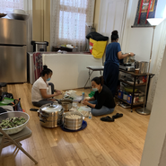 The Hyolmo preparing food to offer