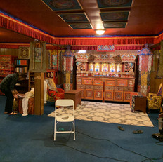 Sangha cleaning the Meditation Room