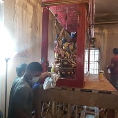 Sangha fixing the Shrine