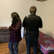 John and Misun finished rearranging the room