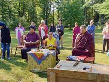 Rinpoche praying