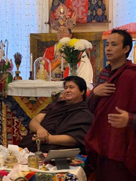 Namgyal Dawa Rinpoche with Lama Pema