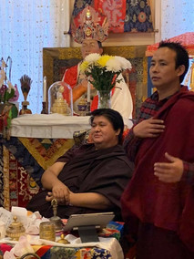 Namgyal Dawa Rinpoche with Lama Pema