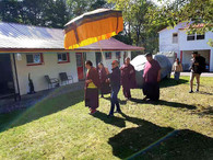Rinpoche leaving after Semo Lhanzey la 49 days