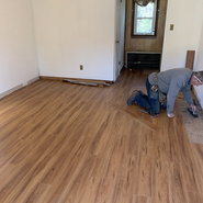 Changing the flooring to Vinyl Wood