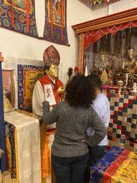 Lopon Tandin Painting Dudjom Rinpoche's Ku