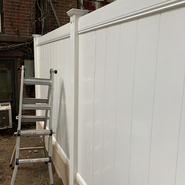 White fence properly set up