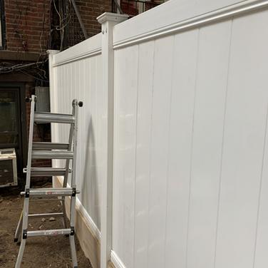 White fence properly set up