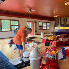 Sangha Cleaning the Temple