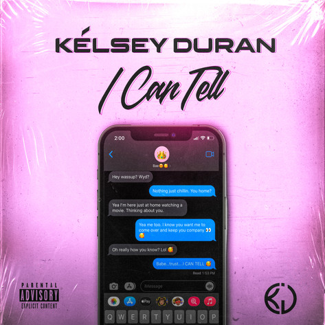 KELSEY DURAN - I CAN TELL COVER ART