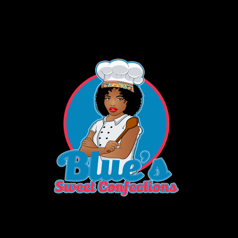 BLUE'S SWEET CONFECTIONS BAKERY LOGO