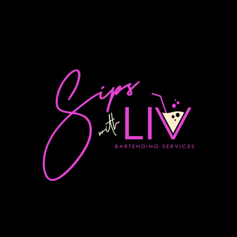 SIPS WITH LIVE BARTENDING SERVICES COMPANY LOGO