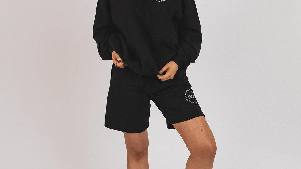 The Sunday Sweats Club &Co. Black Jogger Shorts