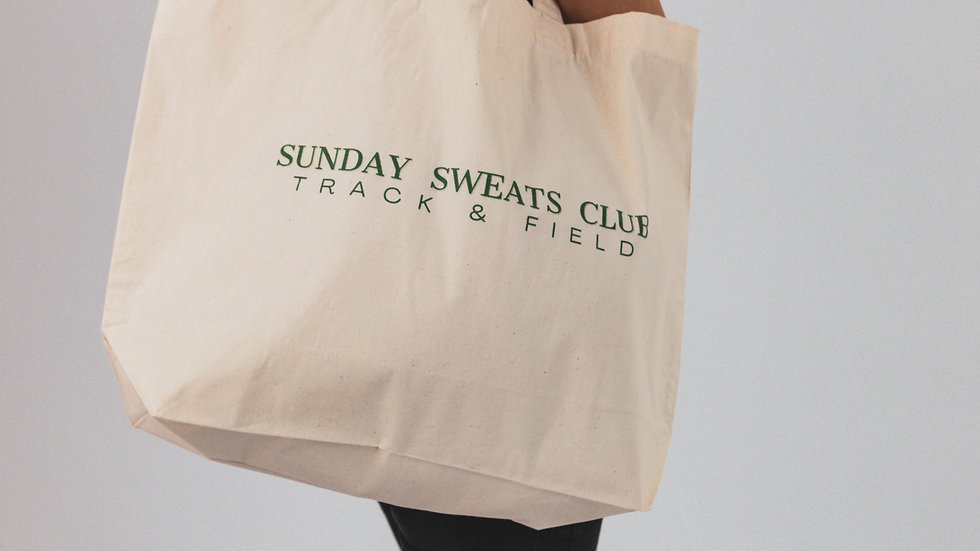 The Sunday Sweats Club & Co. Track & Field Maxi Tote Shopper Bag