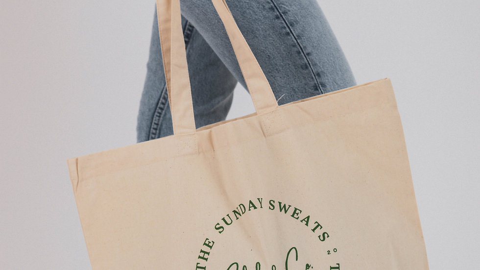 The Sunday Sweats Club & Co. Logo Maxi Tote Shopper Bag