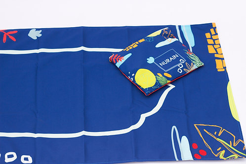Kids Travel Prayer Mat with Pouch - Tropical Theme
