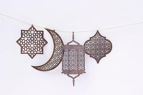 Set of 4 Hanging Ornaments