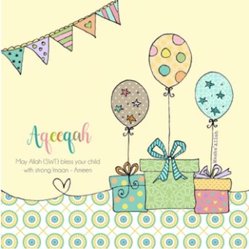 Aqeeqah Mubarak - Bunting and Presents